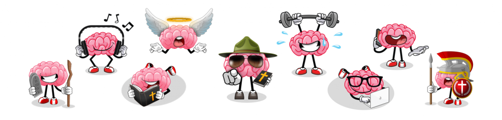 Home page image of various Bible Brains image