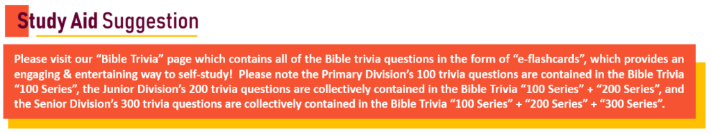 Bible Bowl STUDY AID Suggestion (for Trivia) revised Capture