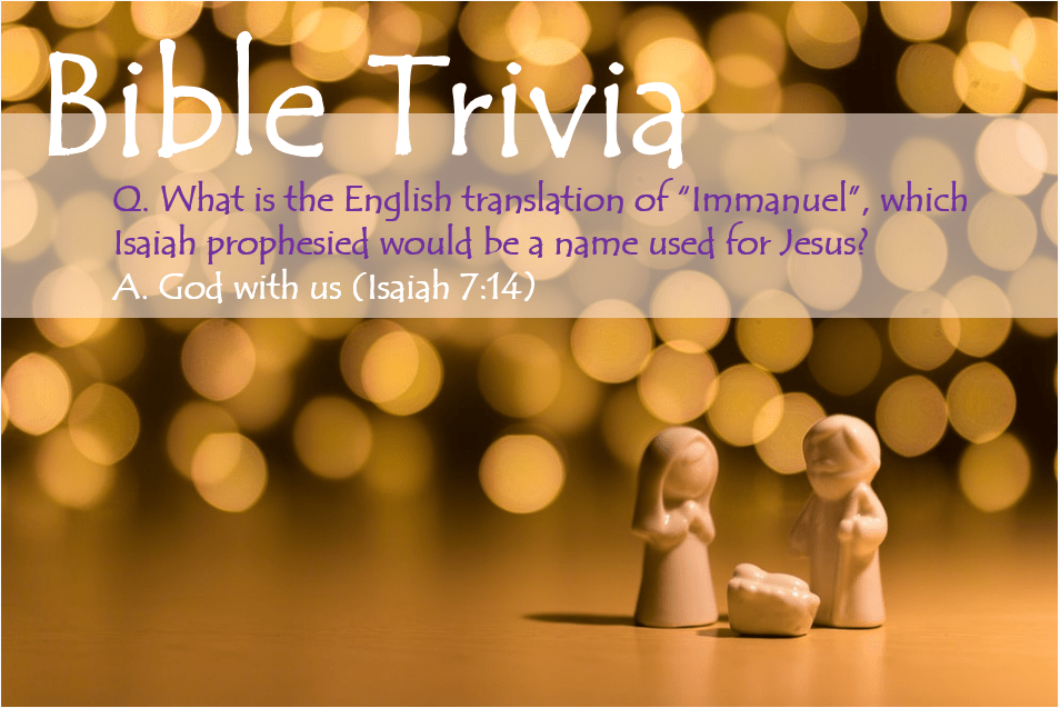 Bible Trivia 205 Capture