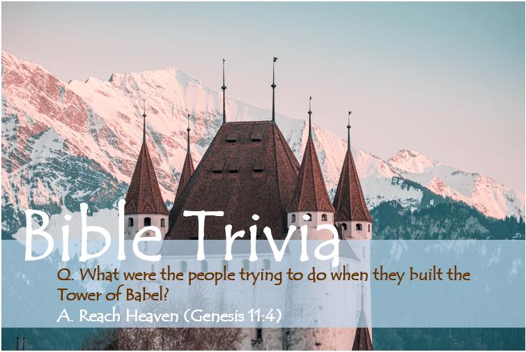 Bible Trivia Genesis 11_4 image