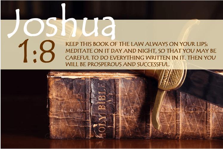 JOSHUA 1:8 image