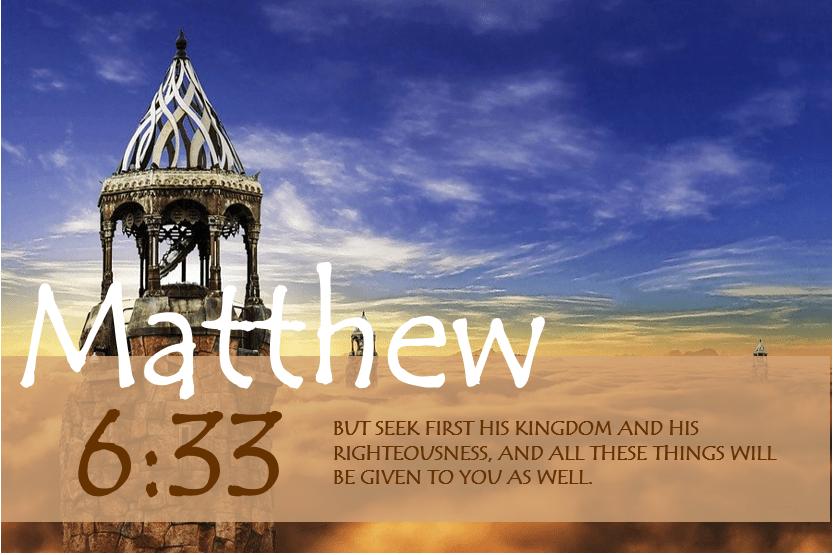 MATTHEW 6:33 verse image