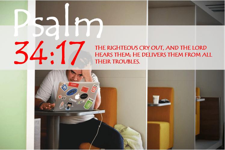 PSALM 34:17 image