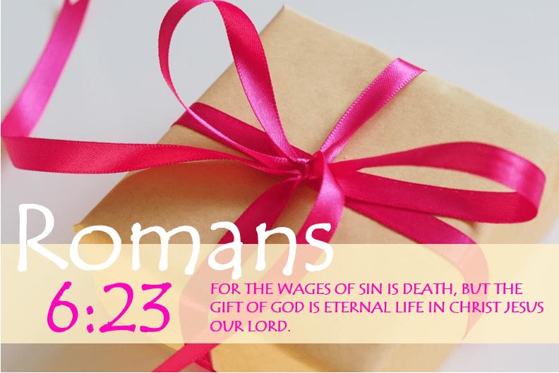 Romans 6:23 Bible Verse Image