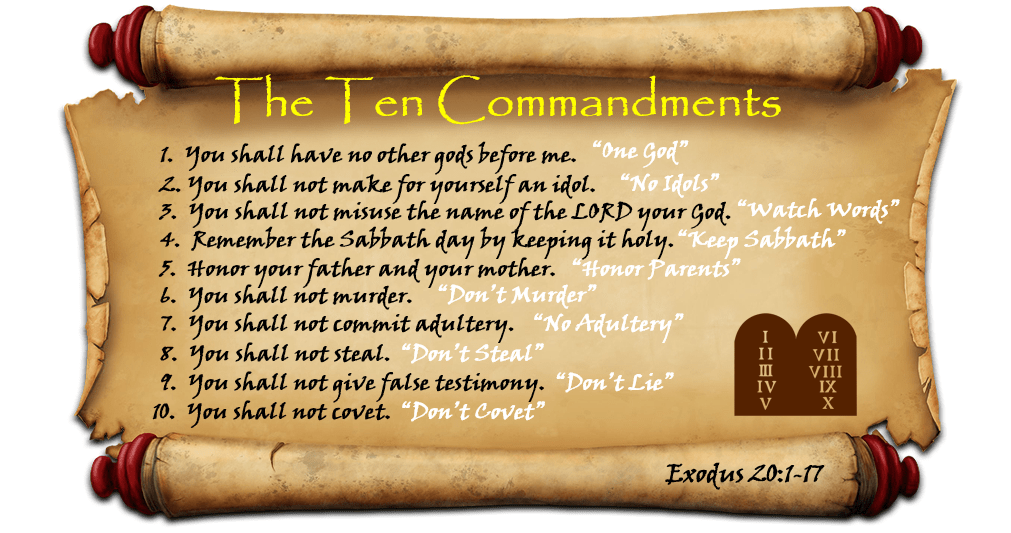 10 Commandments on Scroll image