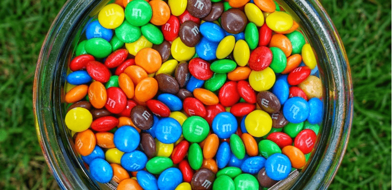Jar of M&Ms image cropped